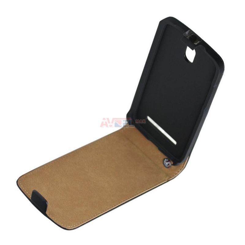GSM Puzdro HTC Desire 500 - čierne výklopné ... 61d2c9b40aa